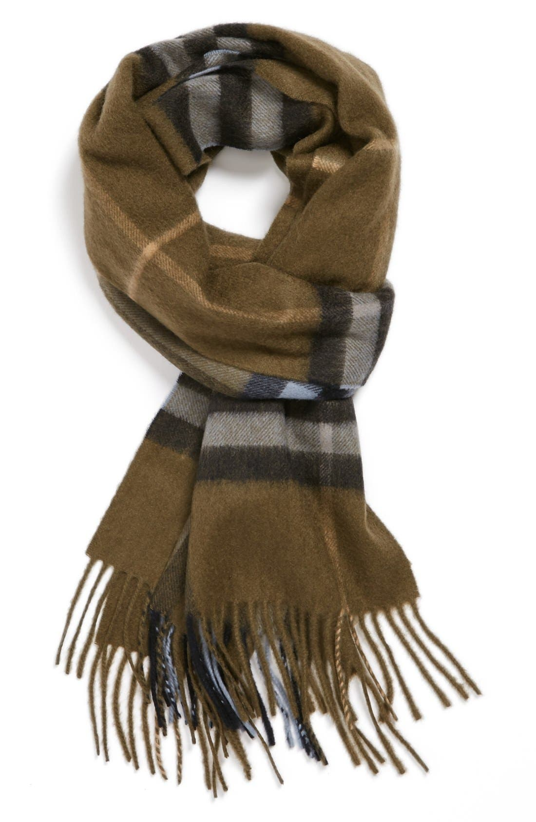 ,                             Heritage Check Cashmere Scarf,                             Main thumbnail 18, color,                             028