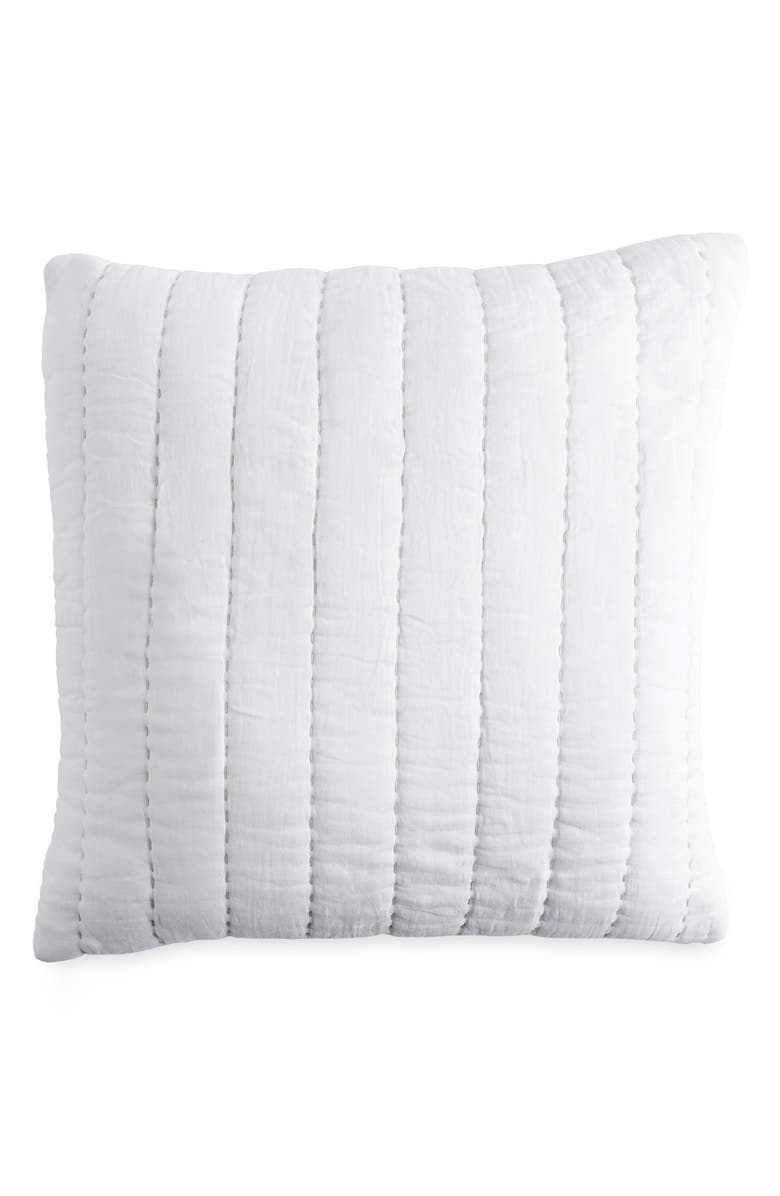 DKNY Quilted Accent Pillow, Main, color, 100
