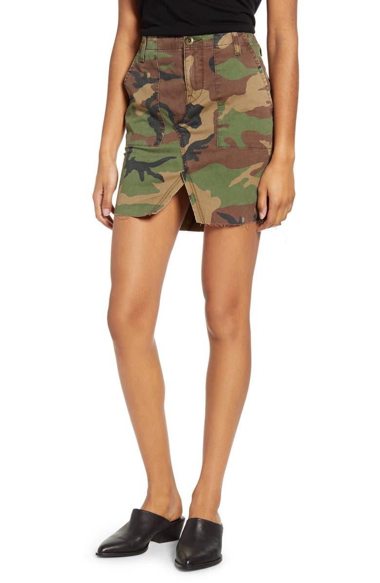 HUDSON JEANS Stone Camo Utility Skirt, Main, color, STONE CAMO