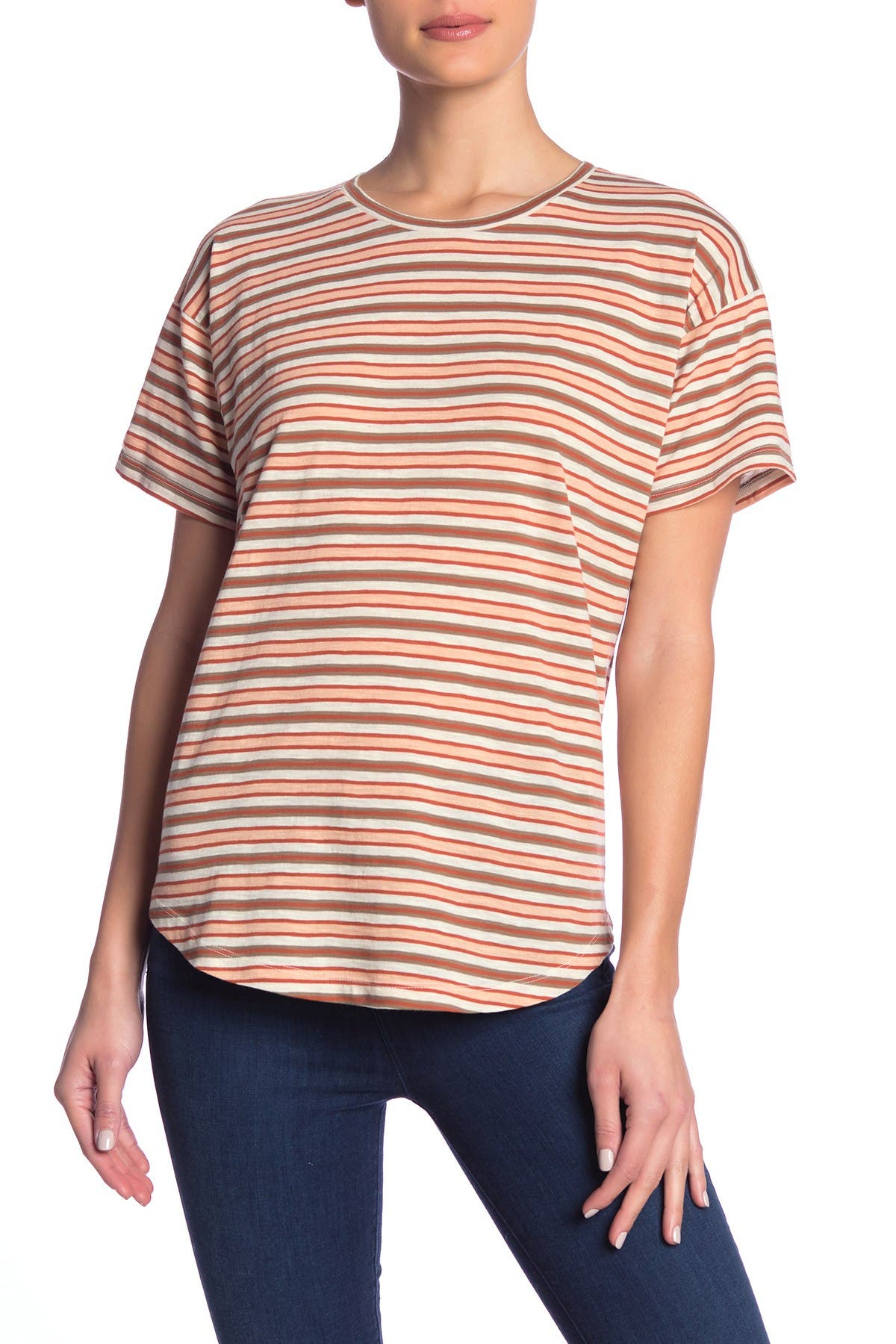 Image of Madewell Striped Short Sleeve Crew Neck T-Shirt