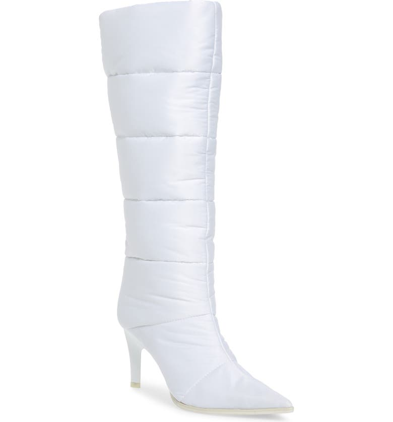 JEFFREY CAMPBELL Apris Knee High Puffer Boot, Main, color, 100