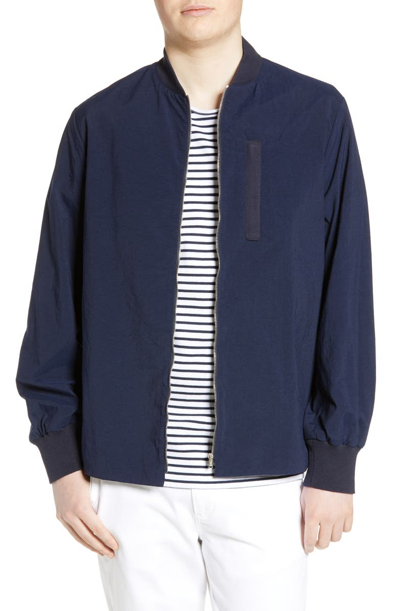 WAX LONDON Twombly Water Resistant Bomber Jacket, Main, color, NAVY