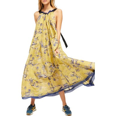 Free People Tropical Toile Dress, Green