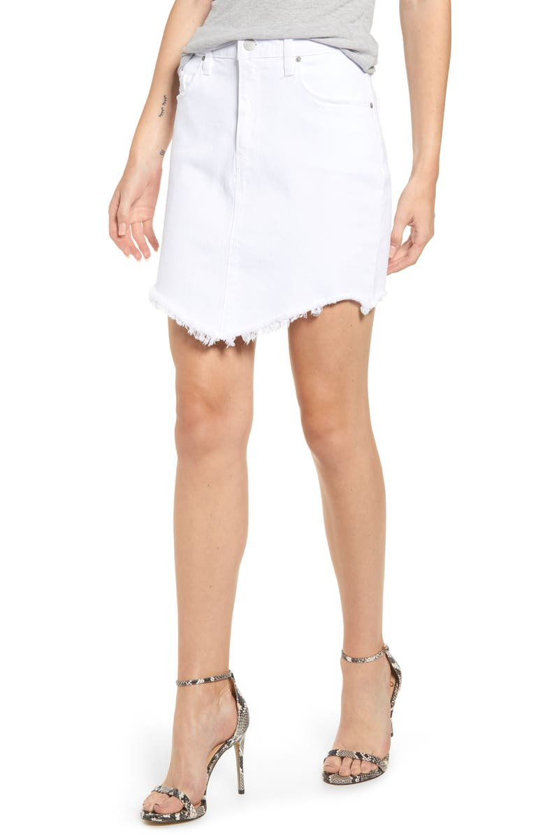 HUDSON JEANS Lulu Denim Skirt, Main, color, 100