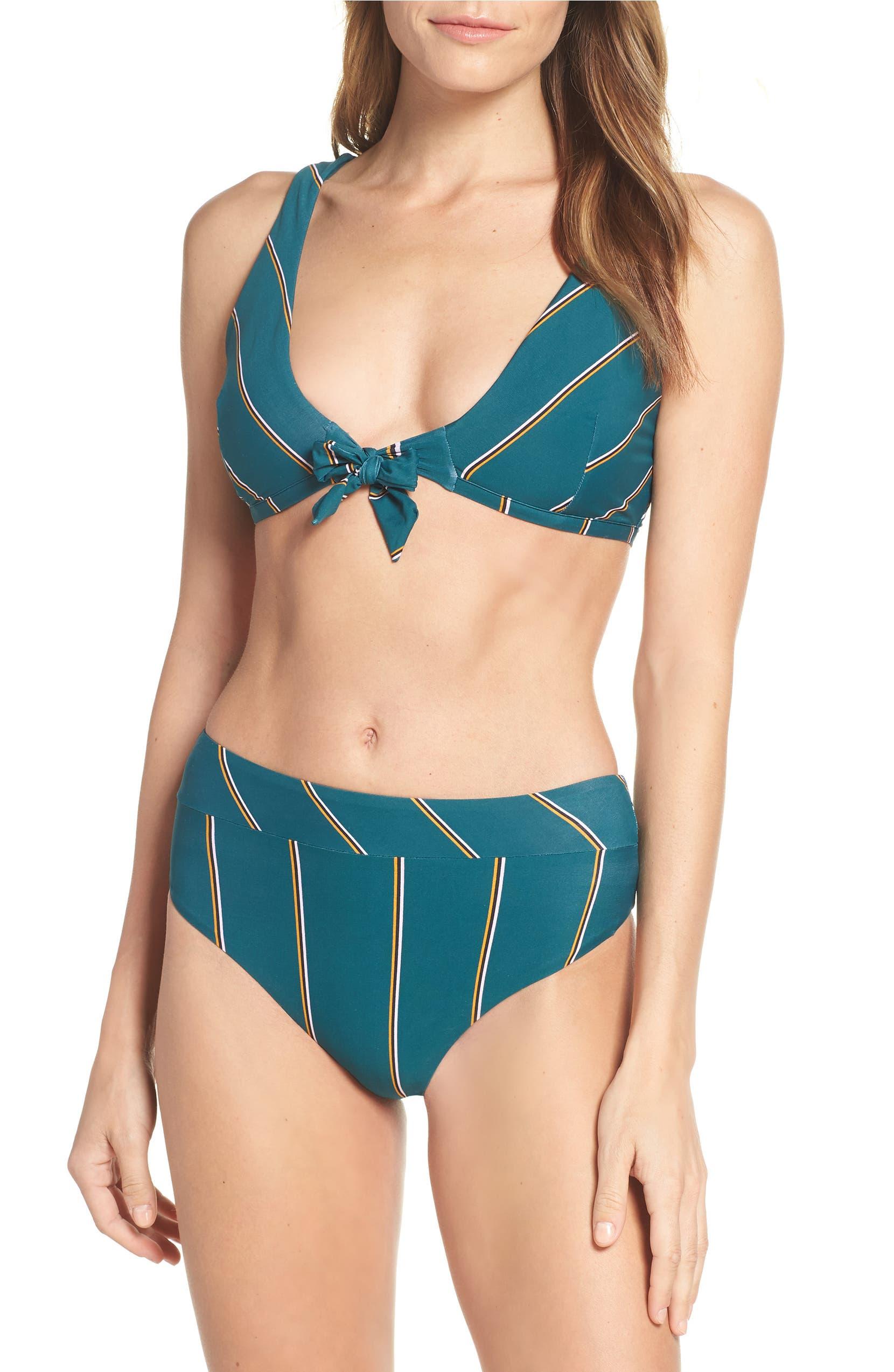 02297643a45a9 Seafolly Aralia Tie Front Bikini Top   Nordstrom