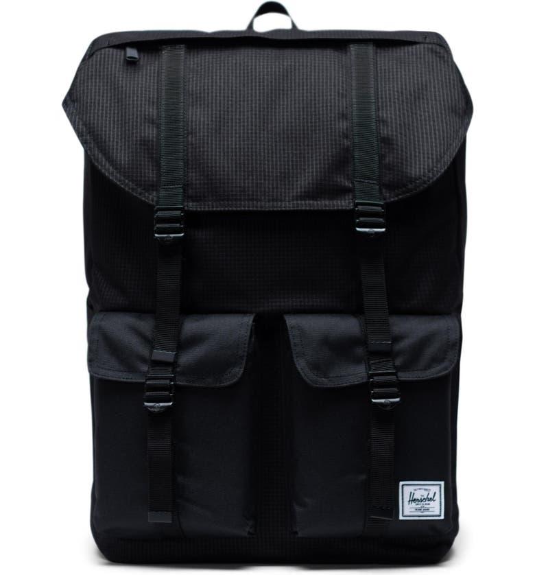 HERSCHEL SUPPLY CO. Buckingham Backpack, Main, color, DARK GRID/ BLACK