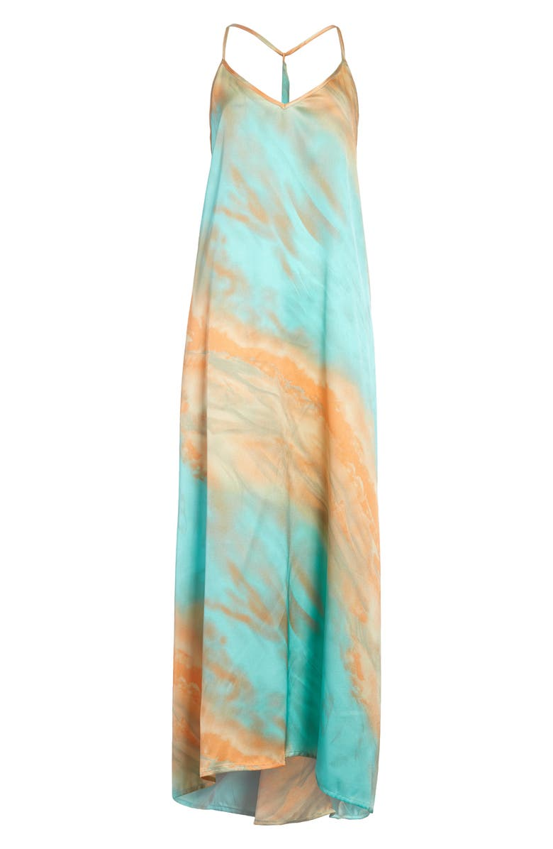 ALL IN FAVOR Tie Dye Maxi Dress, Main, color, 400