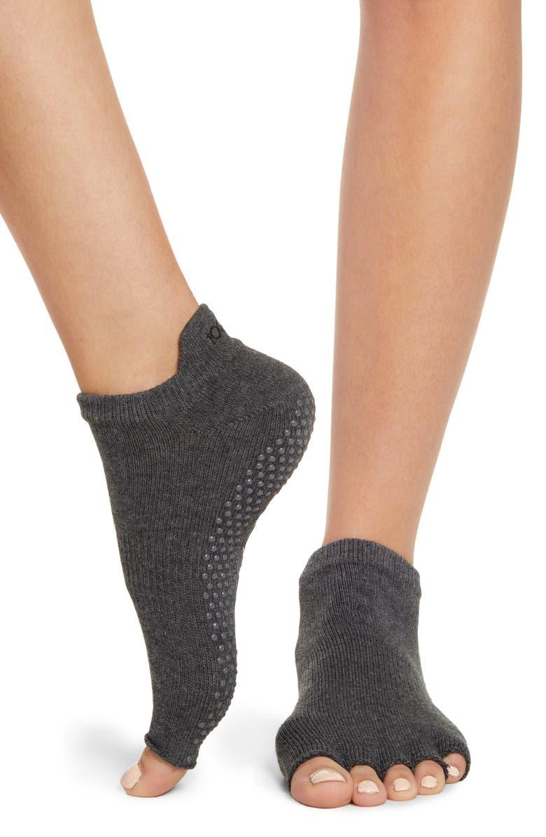 TOESOX Low Rise Half-Toe Gripper Socks, Main, color, WOOD STOCK