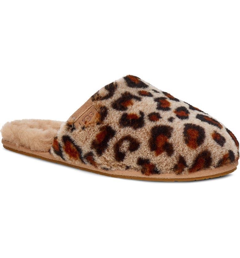 UGG<SUP>®</SUP> Fluffette Genuine Shearling Slipper, Main, color, AMPHORA