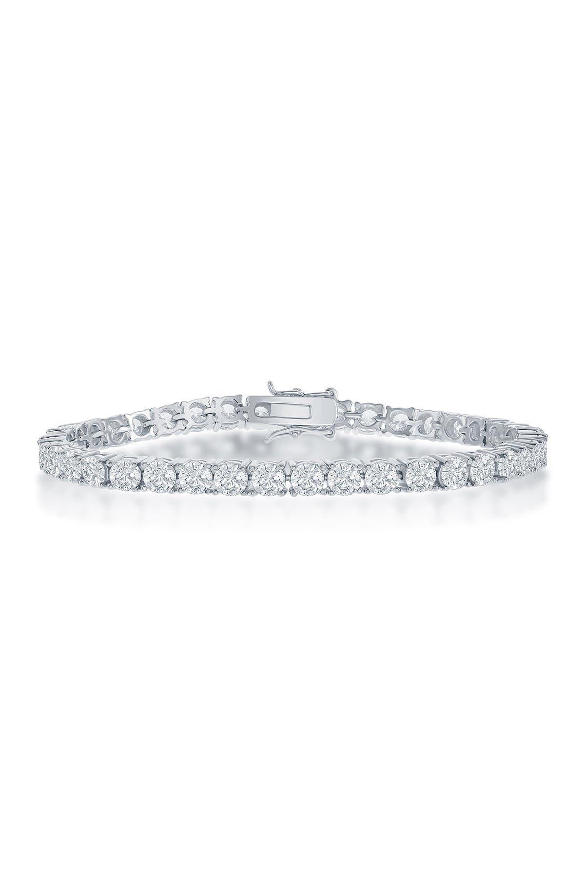 Image of Simona Jewelry Sterling Silver CZ Tennis Bracelet