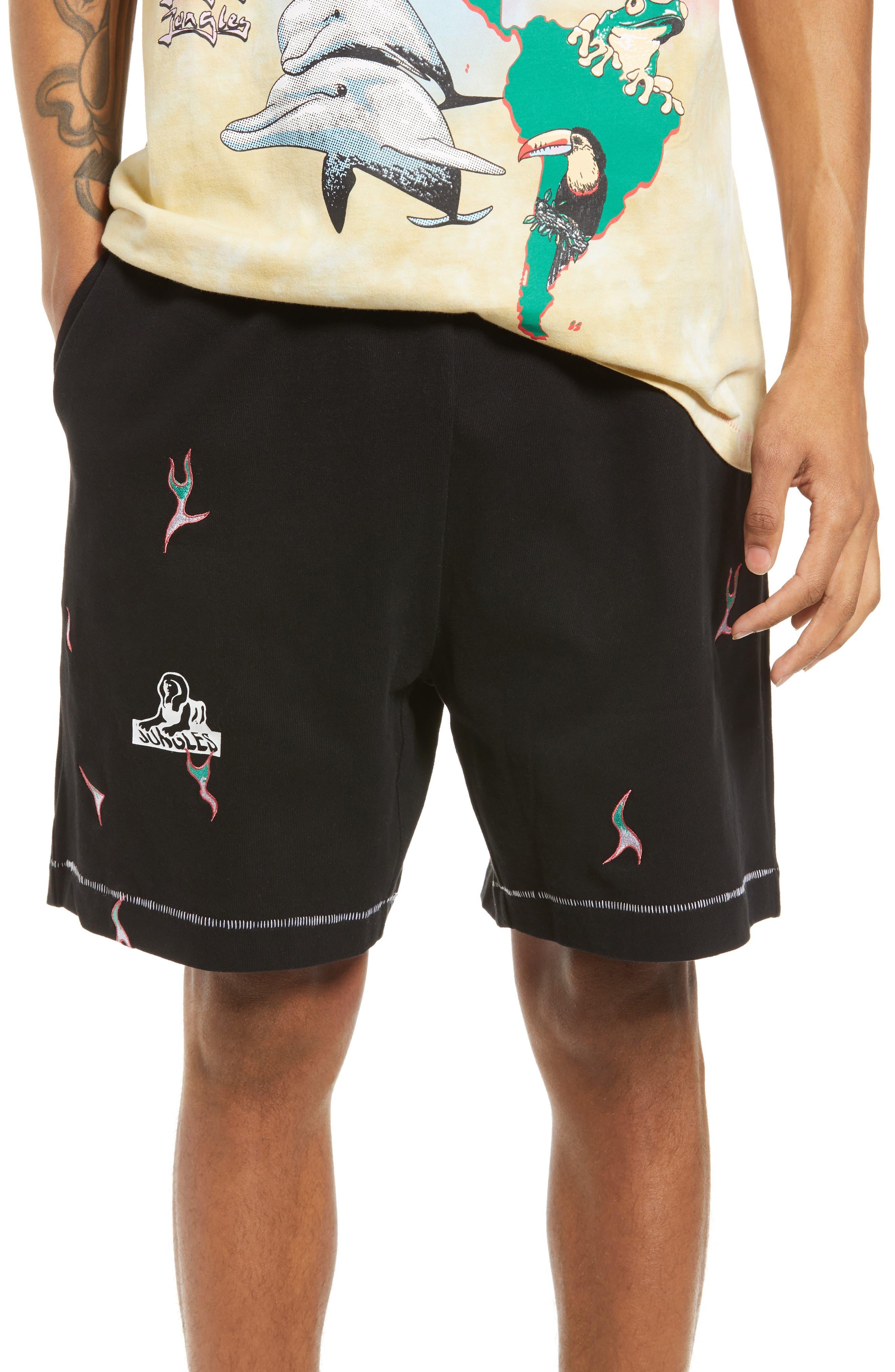 Men's Sphinx Logo Flames Shorts