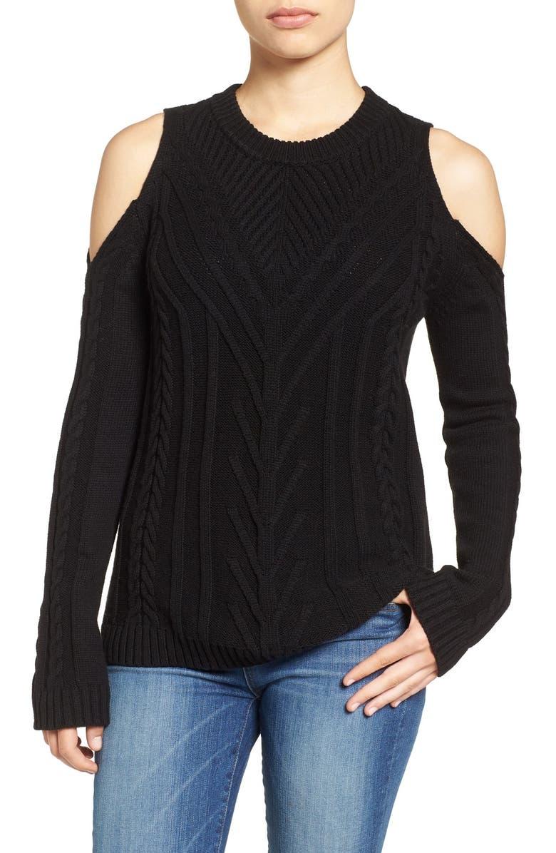VINCE CAMUTO Cold Shoulder Sweater, Main, color, 006