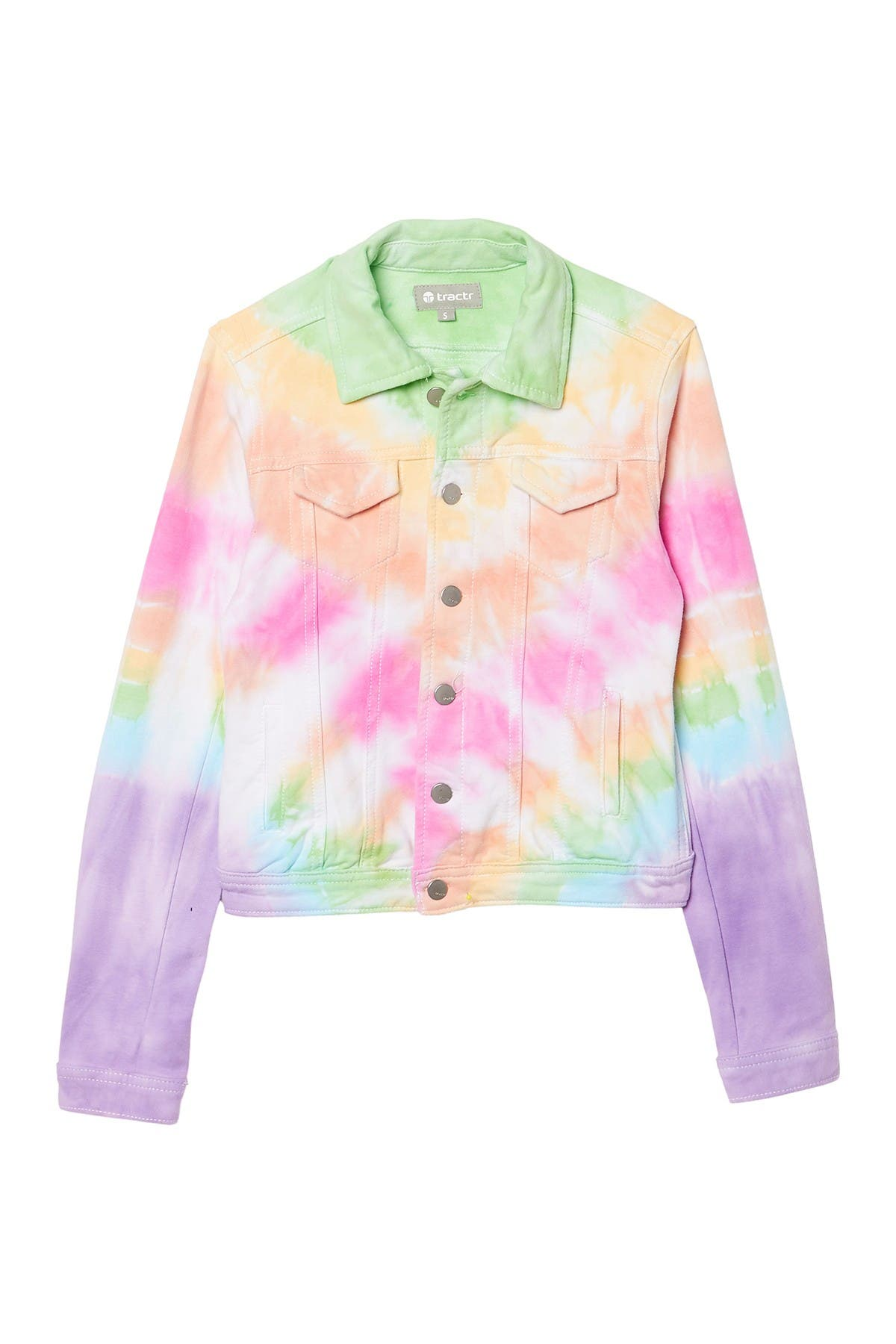 Image of Tractr Denim Tie Dye Jacket