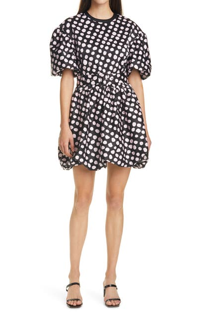 Tanya Taylor ALICIA POLKA DOT PUFFED SLEEVE MINIDRESS