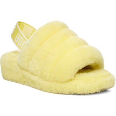 Ugg Fluff Yeah Genuine Shearling Slipper, Yellow