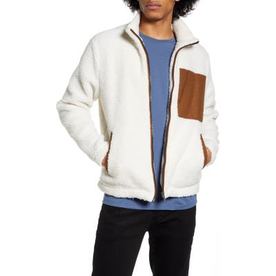 Native Youth Cheviot Fleece Jacket, White
