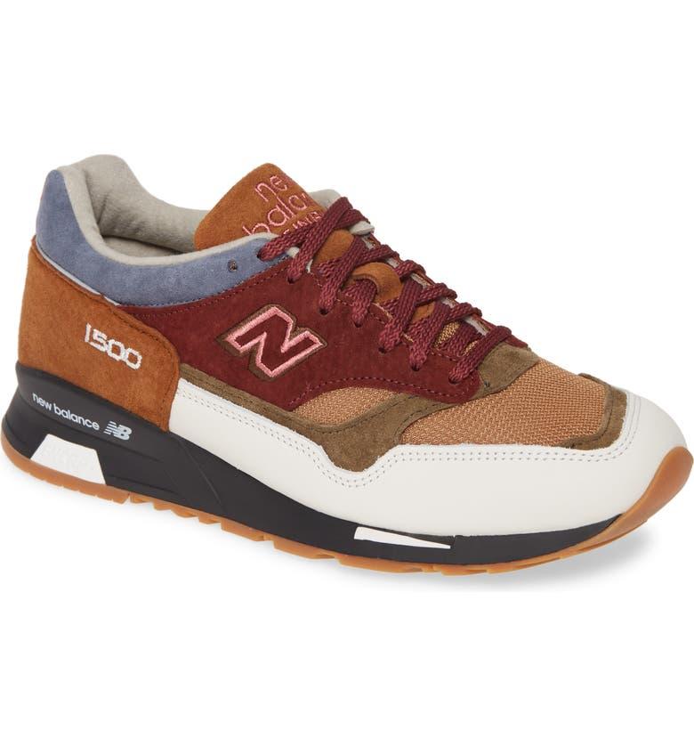 NEW BALANCE MADE IN UK Urban Peak 1500 Sneaker, Main, color, BURGUNDY SUEDE