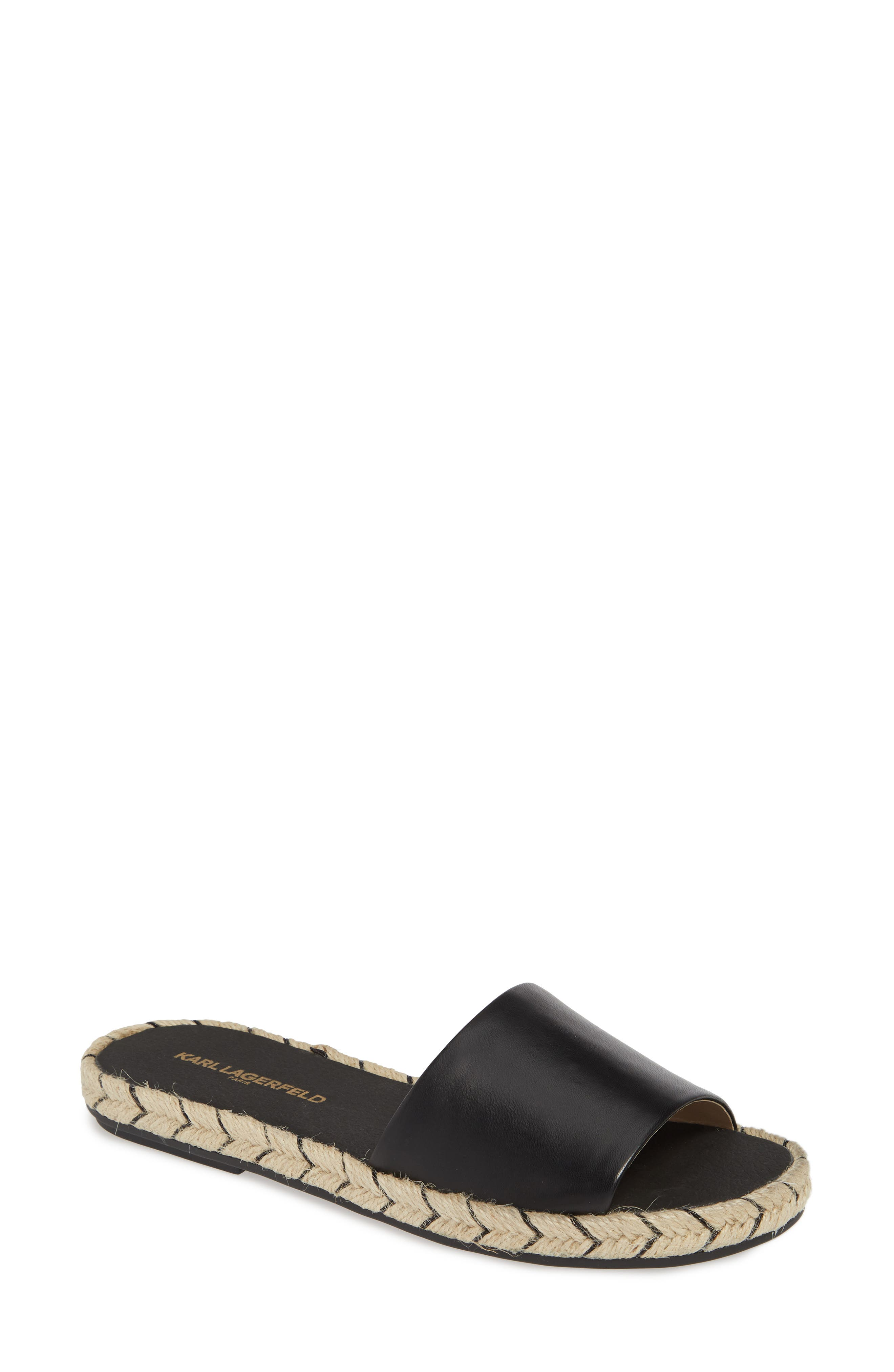 Karl Lagerfeld Paris Niya Slide Sandal- Black