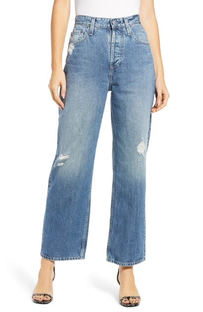 Ag KNOXX DISTRESSED HIGH WAIST BOYFRIEND JEANS