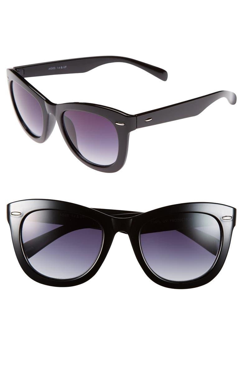 FANTASEYES Fantas Eyes Tortoise Shell Cat Eye 52mm Sunglasses, Main, color, 001