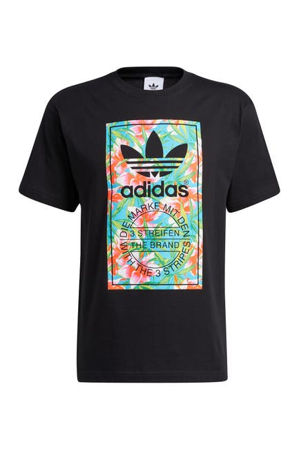 Image of adidas Tongue Label Tropical T-Shirt
