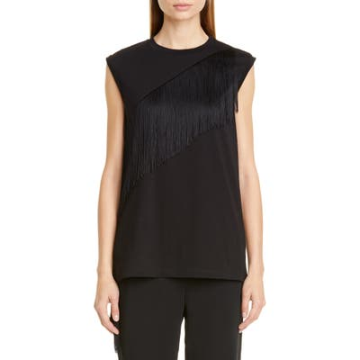 Stella Mccartney Fringe Detail Top, US / 40 IT - Black