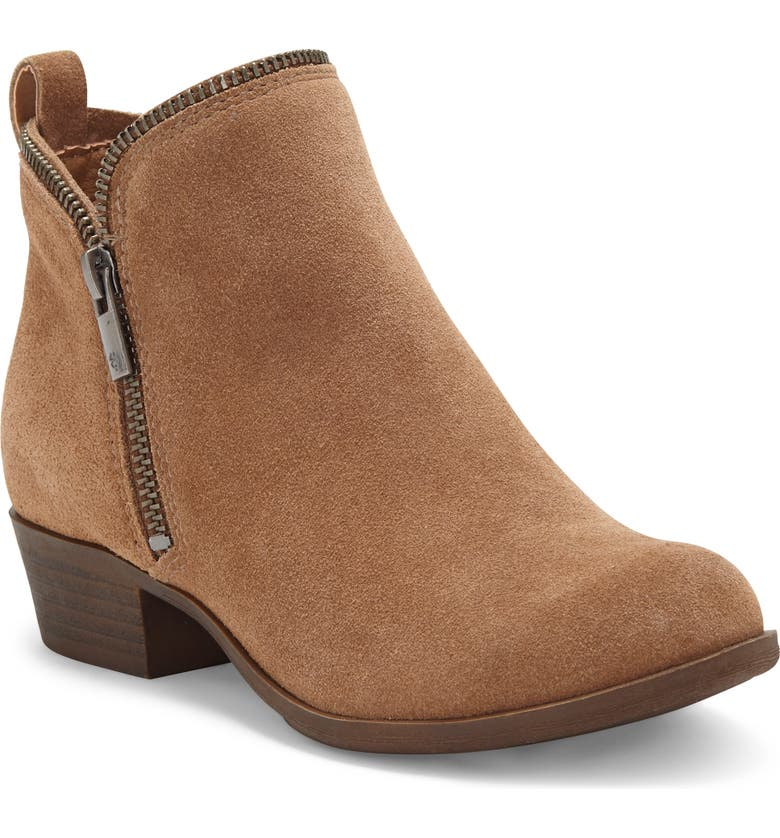 LUCKY BRAND Bartalino Zipper Edged Bootie, Main, color, SESAME