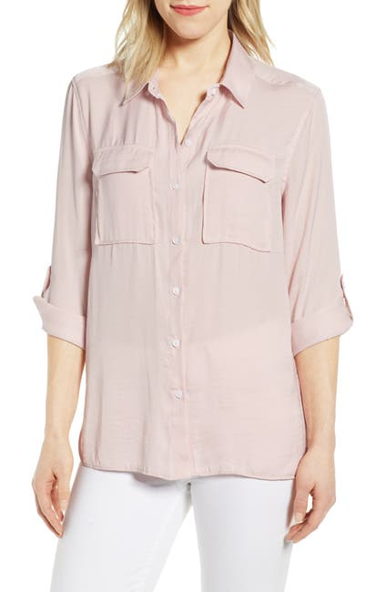 Image of Vince Camuto Two-Pocket Rumple Blouse