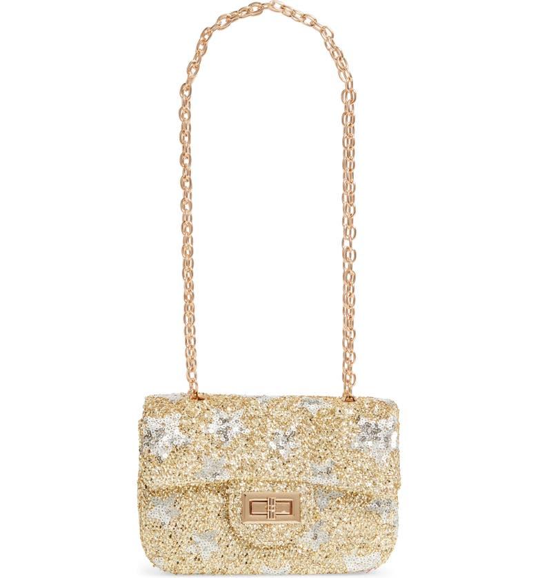 POPATU Sequin Star Handbag, Main, color, GOLD
