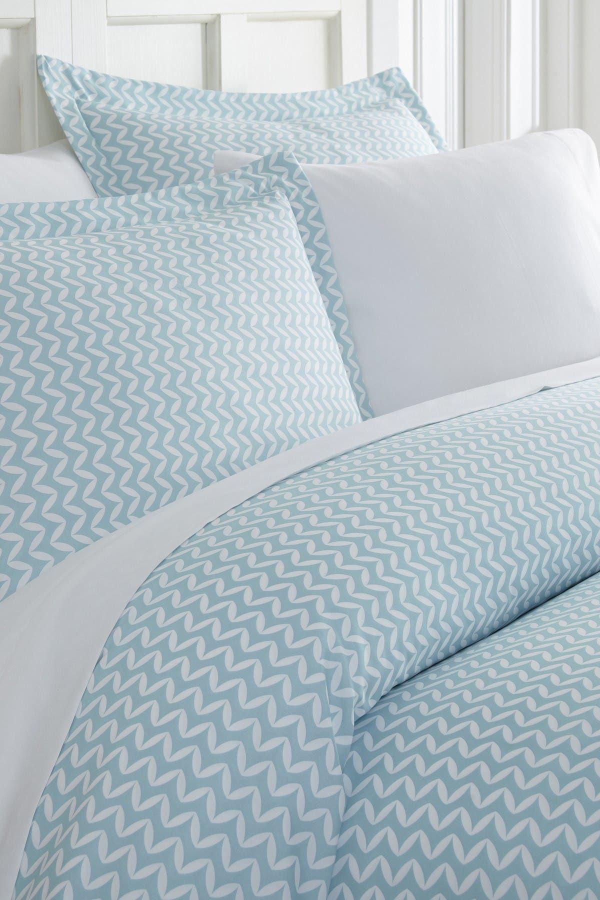IENJOY HOME Home Spun Premium Ultra Soft 3-Piece Puffed Chevron Print Duvet Cover Queen Set - Light Blue at Nordstrom Rack