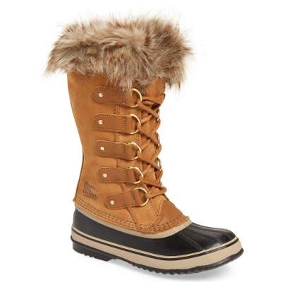 Sorel Joan Of Arctic Faux Fur Waterproof Snow Boot, Brown