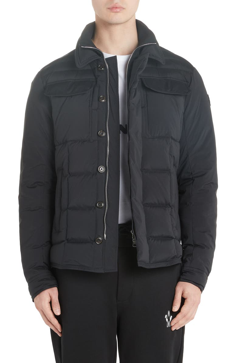 MONCLER Biolay Down Jacket, Main, color, BLACK
