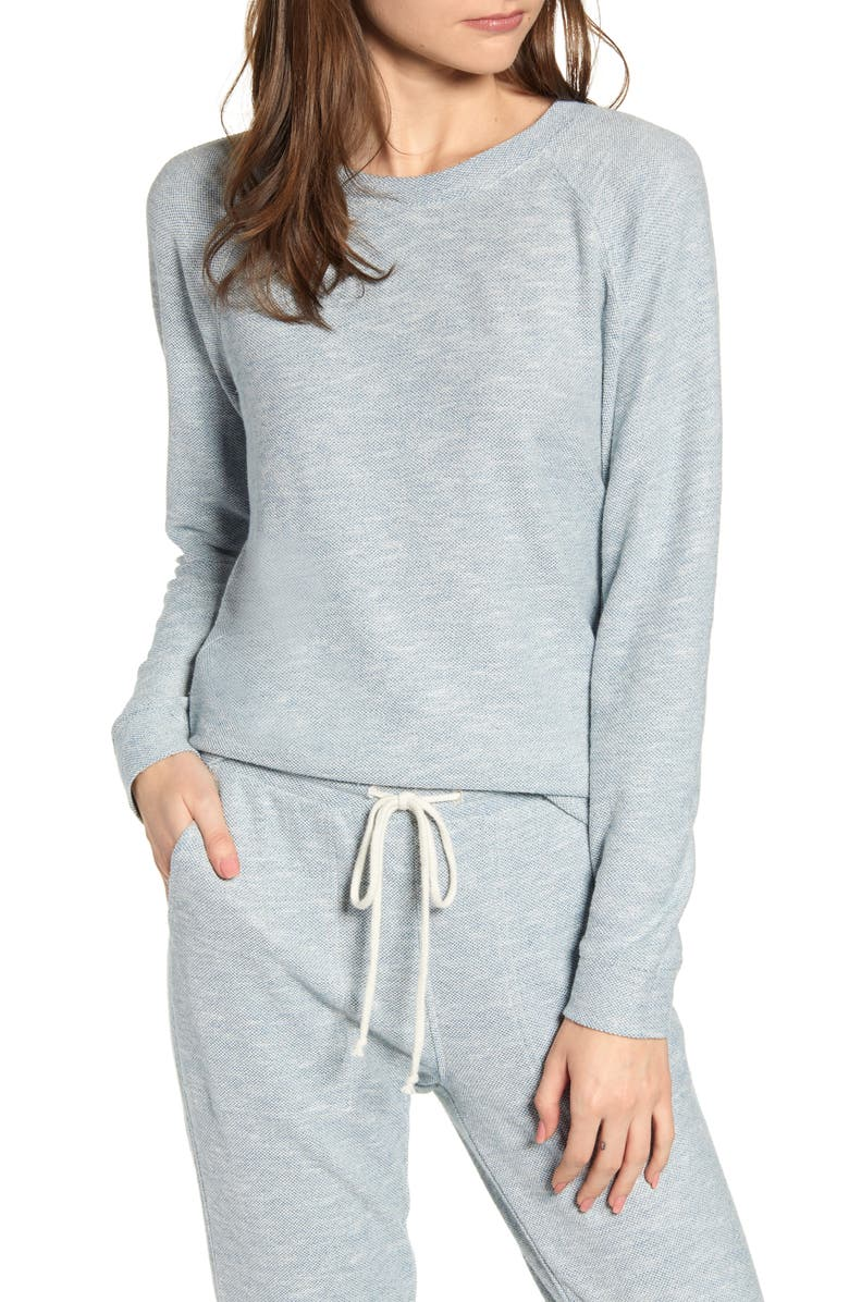 LOU & GREY Fitted Sweatshirt, Main, color, 400
