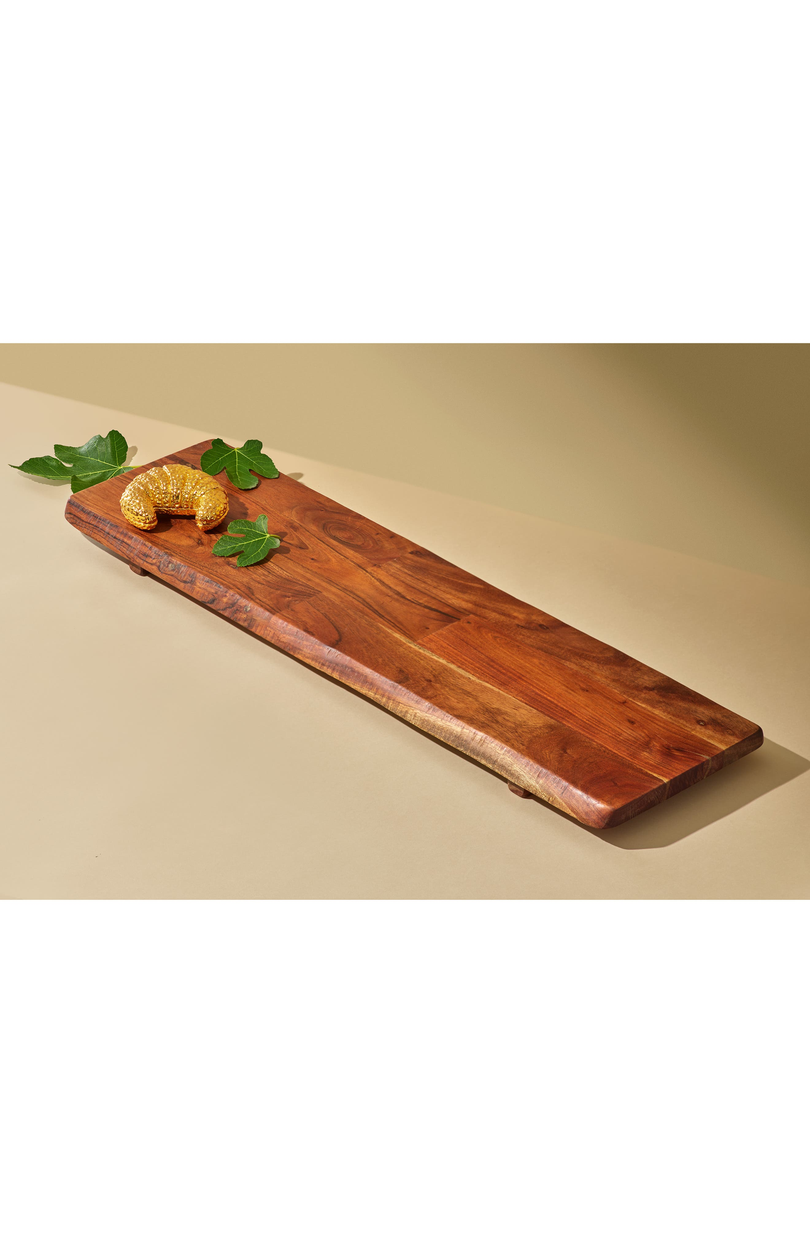 ,                             Large Acacia Wood Tray,                             Alternate thumbnail 7, color,                             BROWN