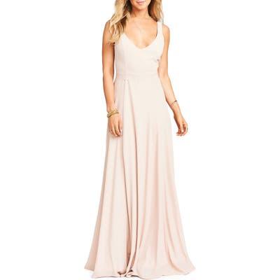 Show Me Your Mumu Jen Chiffon A-Line Gown, Pink