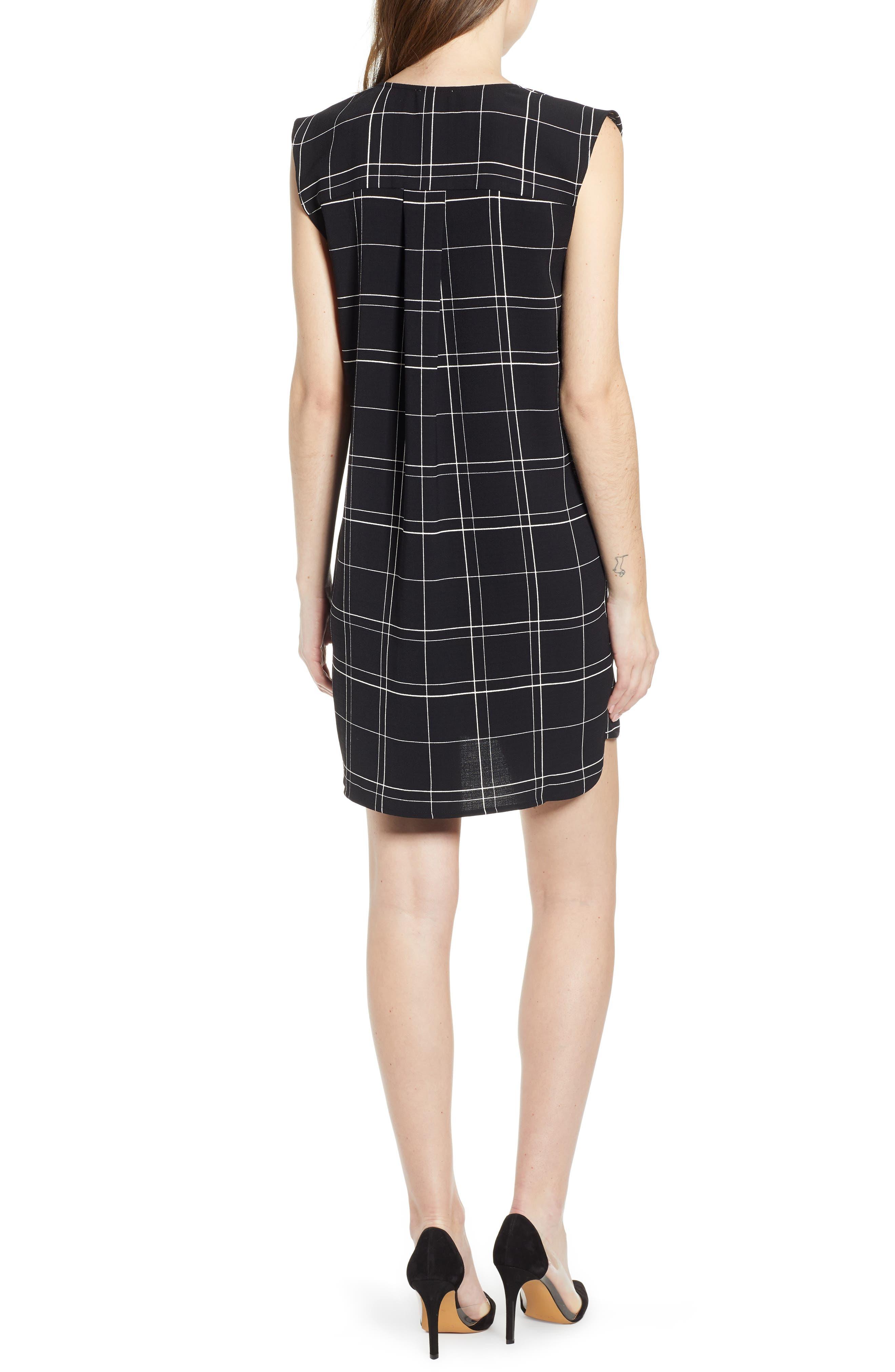,                             Everyday Dress,                             Alternate thumbnail 2, color,                             BLACK GLAM CITY CHECK