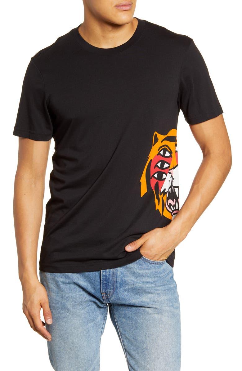 STANCE Cavolo Tiger T-Shirt, Main, color, BLACK