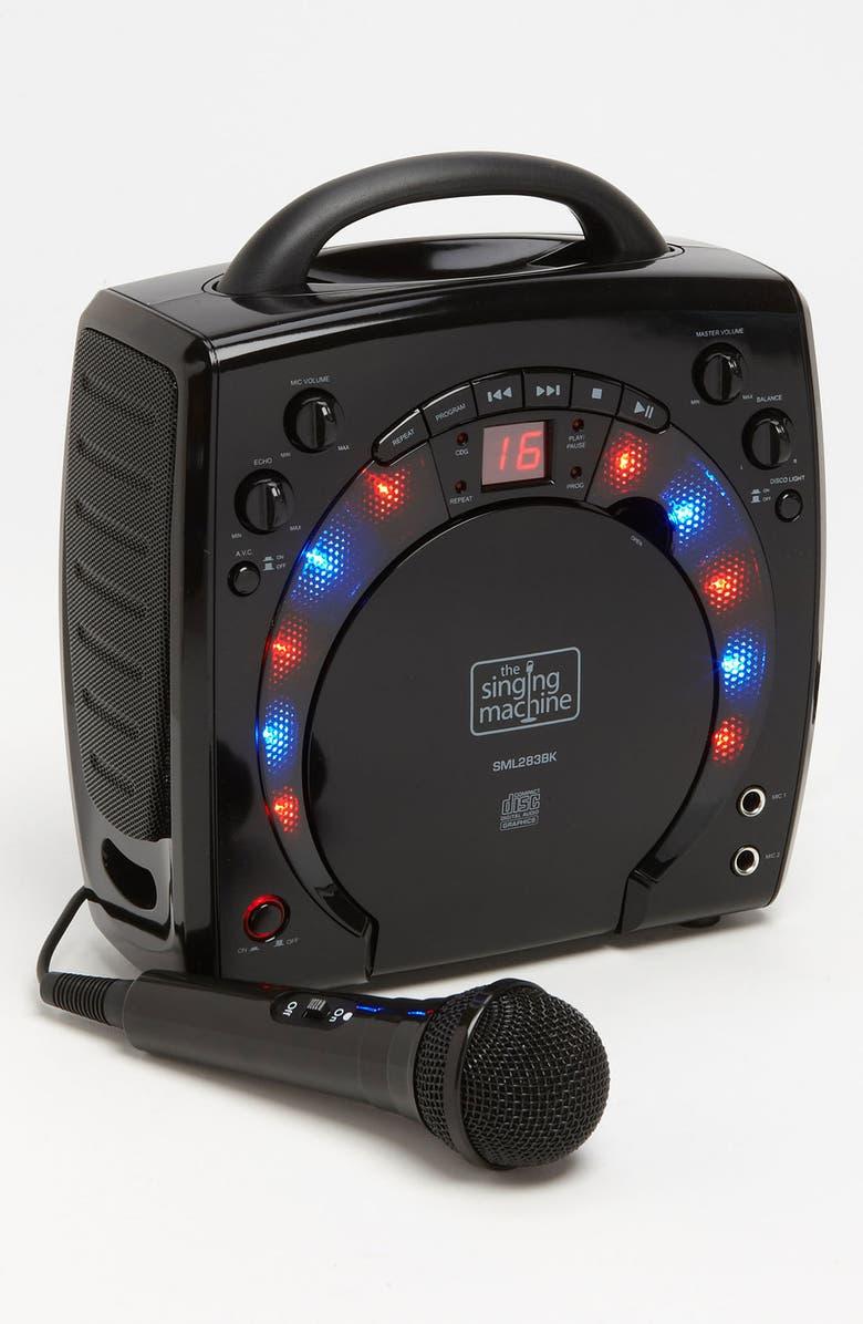 SINGING MACHINE Portable Karaoke System, Main, color, 001