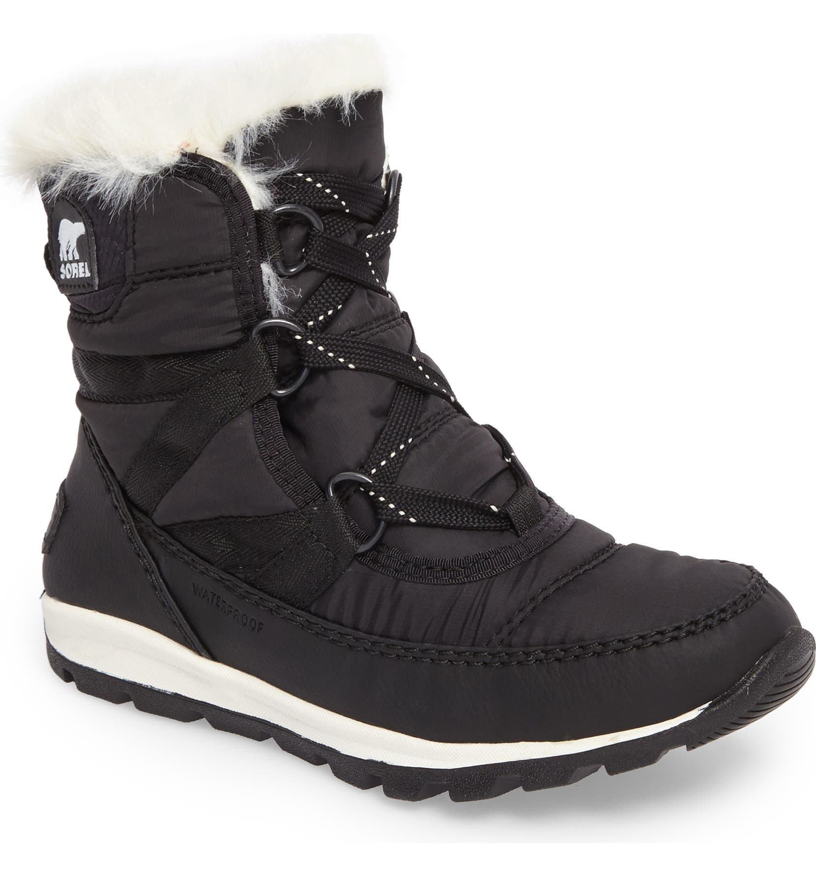 644e84f160 SOREL Whitney Short Lace Waterproof Insulated Boot (Toddler, Little Kid &  Big Kid) | Nordstrom