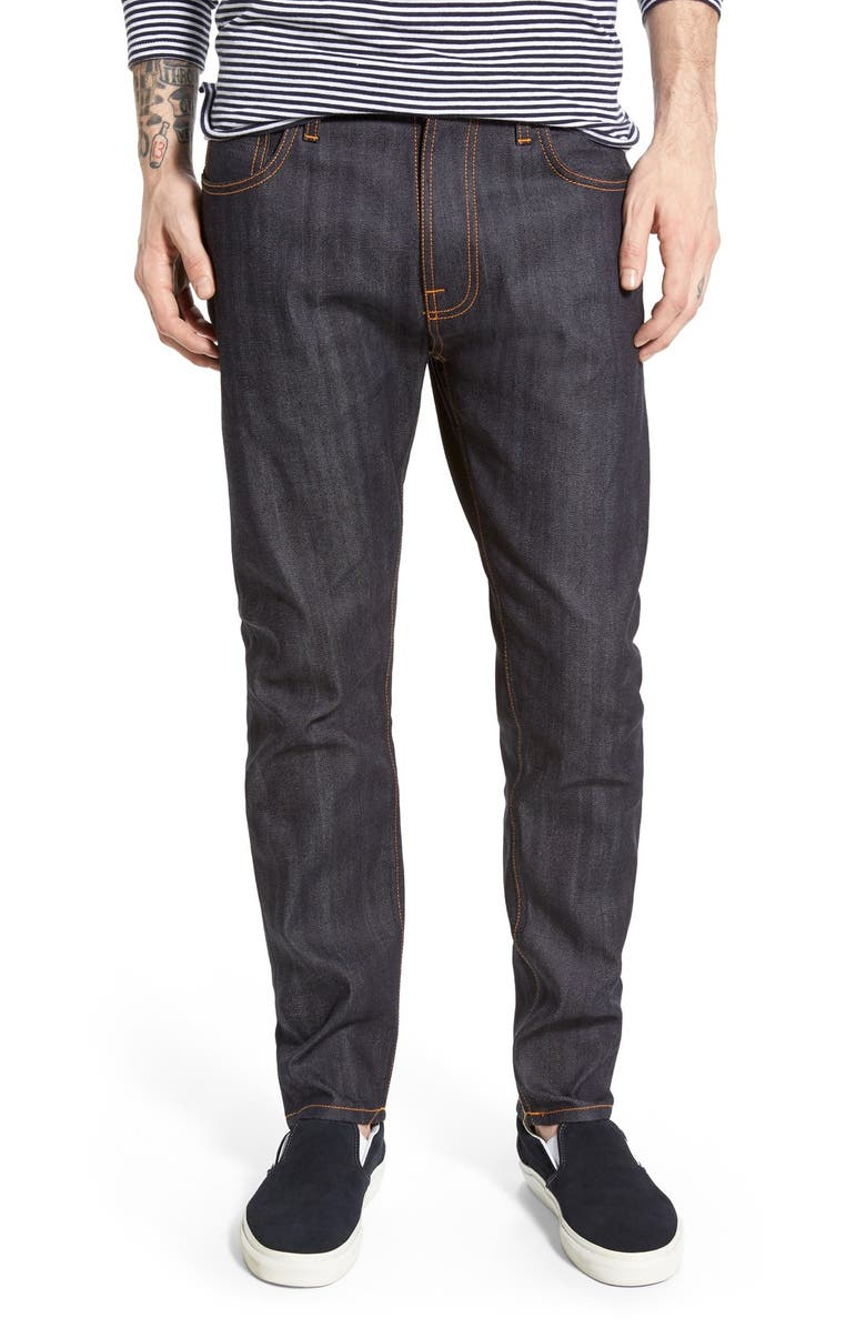 ee7c25a7e Nudie 'Brute Knut' Slouchy Slim Fit Selvedge Jeans, Main, color, ...