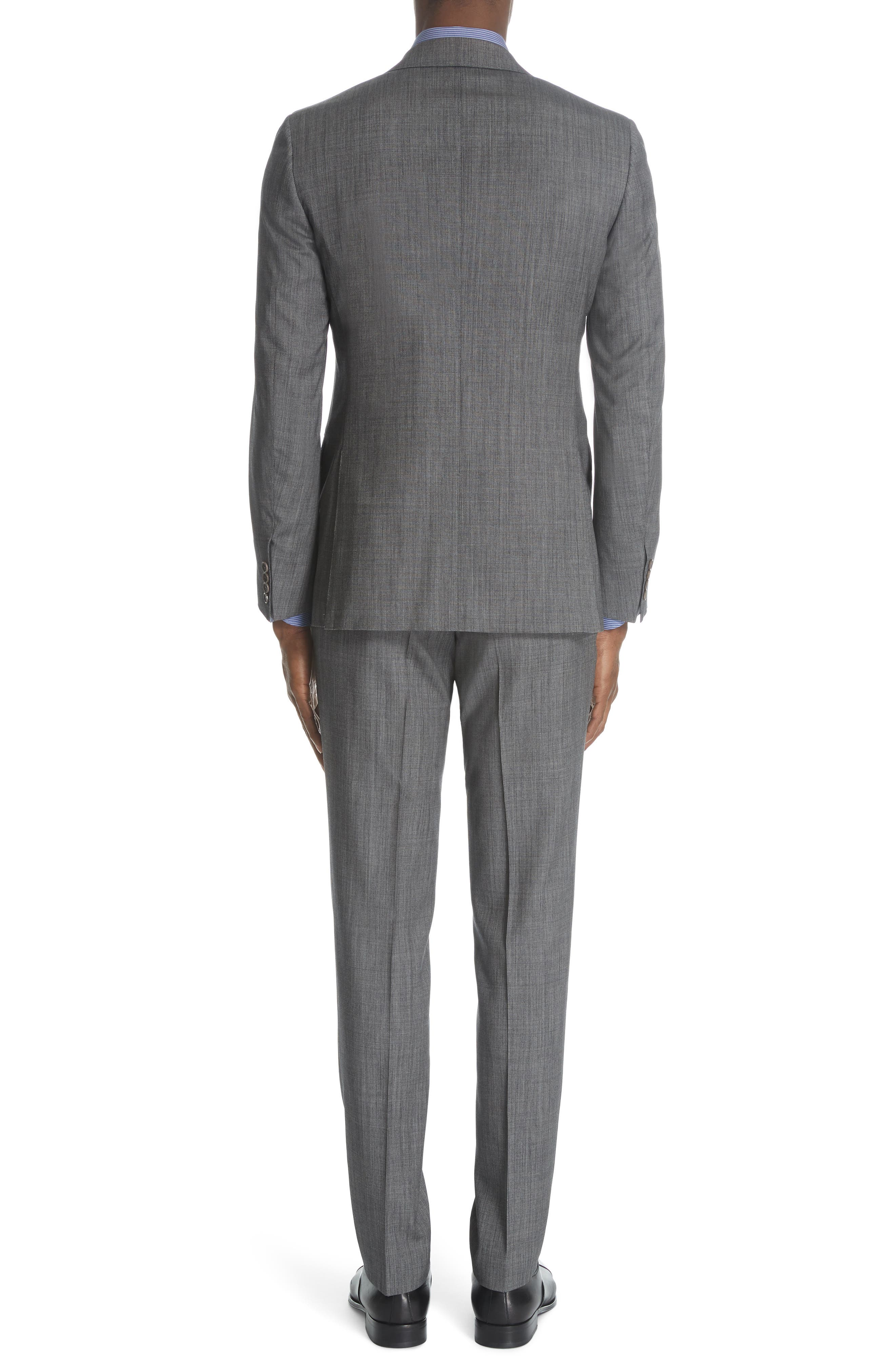 ,                             Milano Classic Fit Solid Wool & Silk Suit,                             Alternate thumbnail 2, color,                             DARK GREY