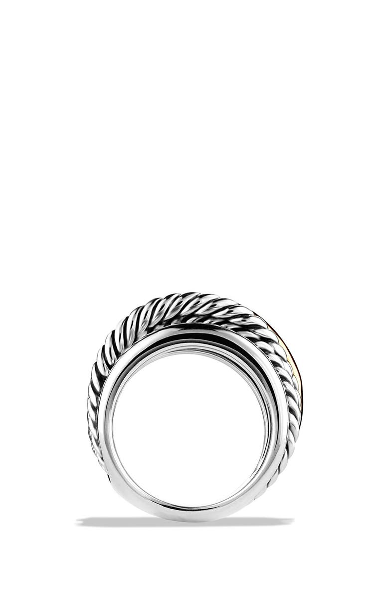 DAVID YURMAN 'Crossover' Narrow Ring with Gold, Main, color, STERLING SILVER/ 14K GOLD