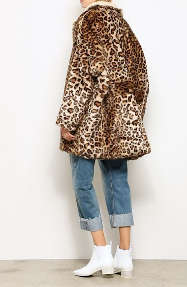 Oversize Faux Leopard Hunting Coat, video thumbnail