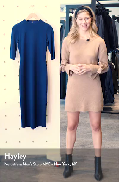 Delora Fitted Mock Neck Dress, sales video thumbnail