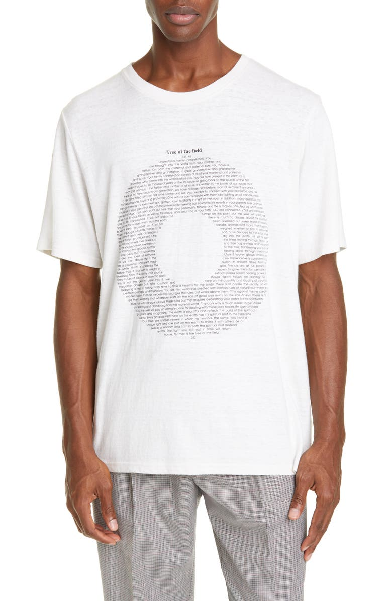 OVADIA Tree of the Field Graphic T-Shirt, Main, color, NATURAL