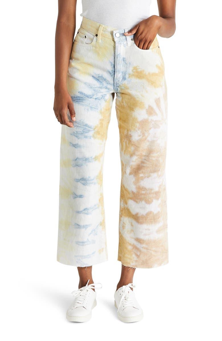ÉTICA Devon High Waist Crop Wide Leg Jeans, Main, color, 800