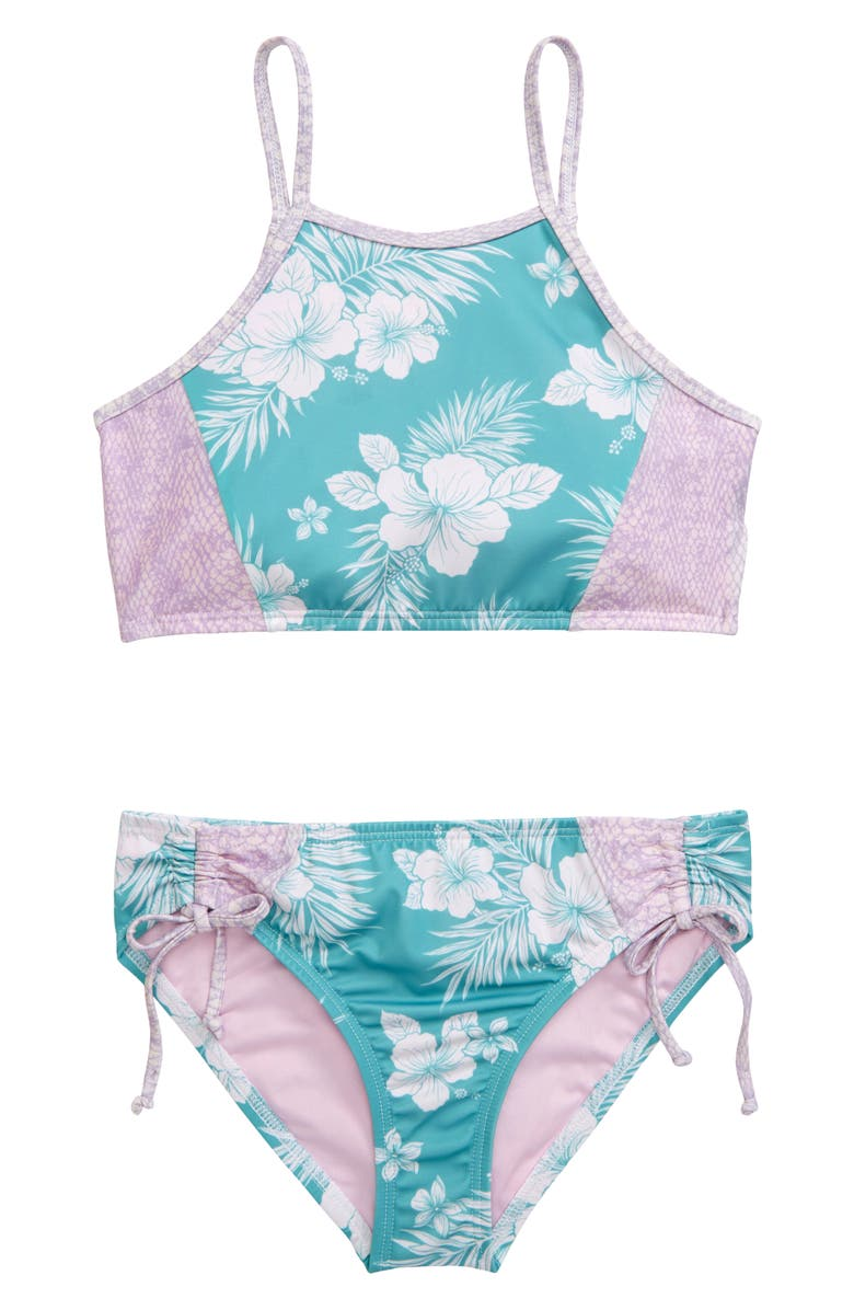 HEART AND HARMONY Luau Two-Piece Swimsuit, Main, color, 440
