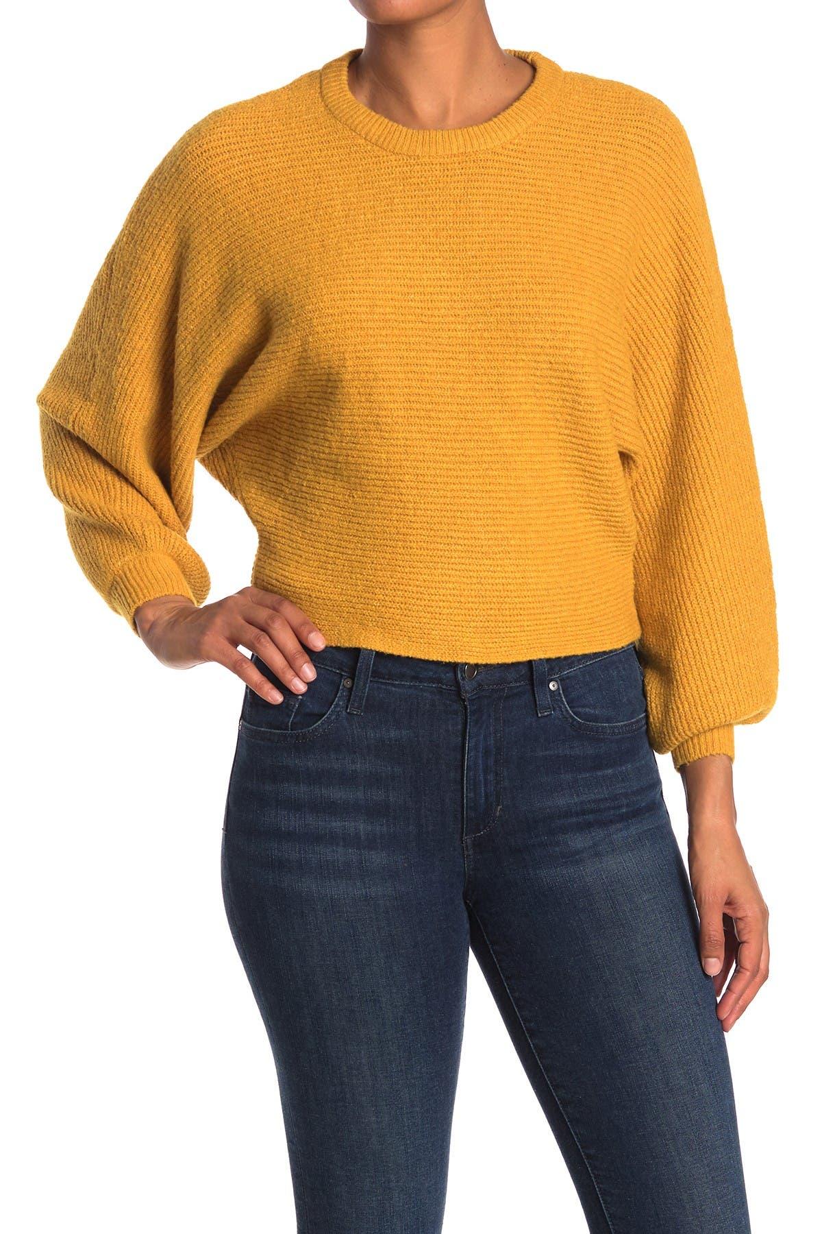 Image of Elodie Crew Neck Balloon Sleeve Sweater