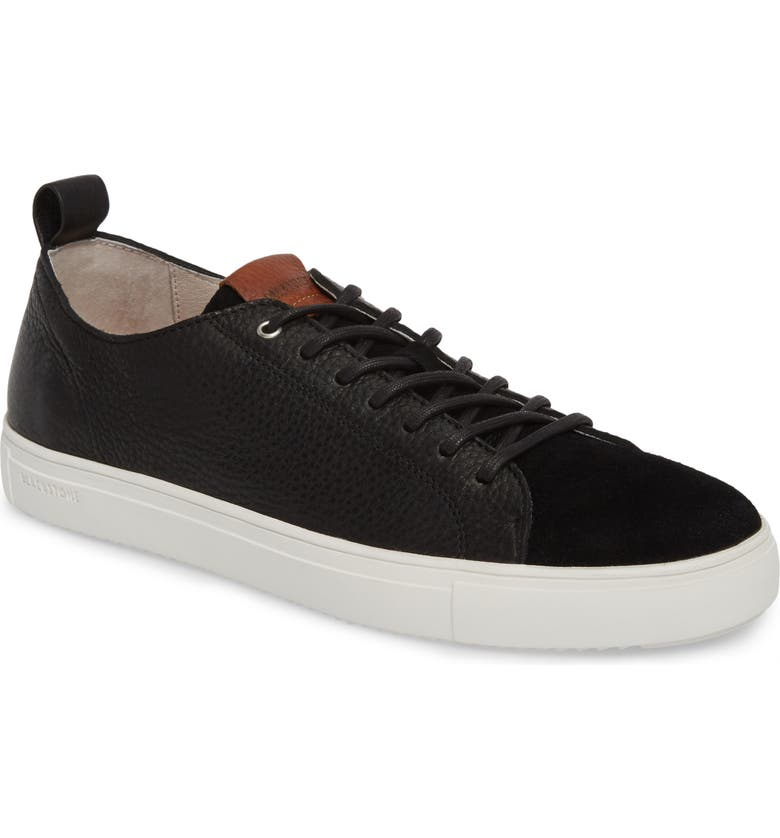 BLACKSTONE PM46 Low Top Sneaker, Main, color, BLACK LEATHER