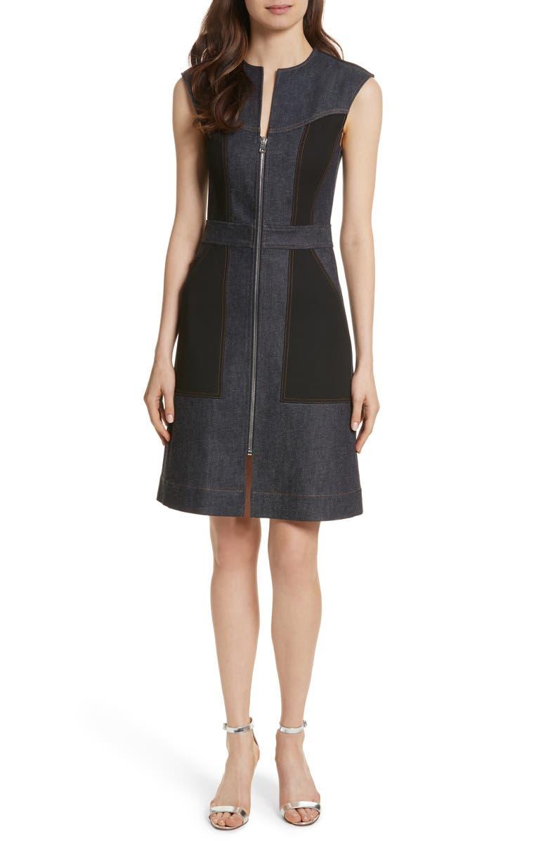 684eb3e8f Diane von Furstenberg Front Zip Denim Dress, Main, color, 461